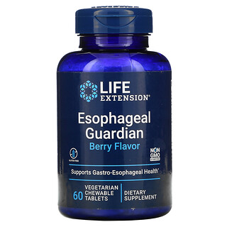 Life Extension, Esophageal Guardian, Berry, 60 Vegetarian Chewable Tablets
