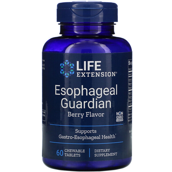Esophageal Guardian, Berry Flavor, 60 Chewable Tablets