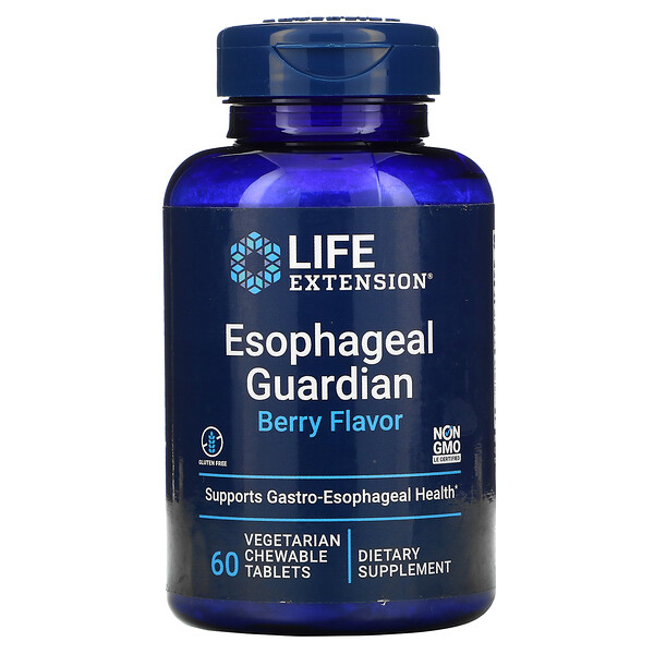Esophageal Guardian, Berry Flavor, 60 Vegetarian Chewable Tablets