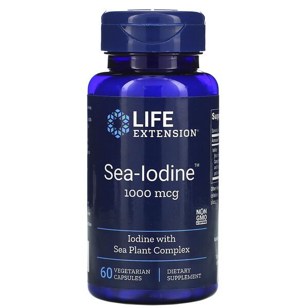 Sea-Iodine, 1,000 mcg, 60 Vegetarian Capsules