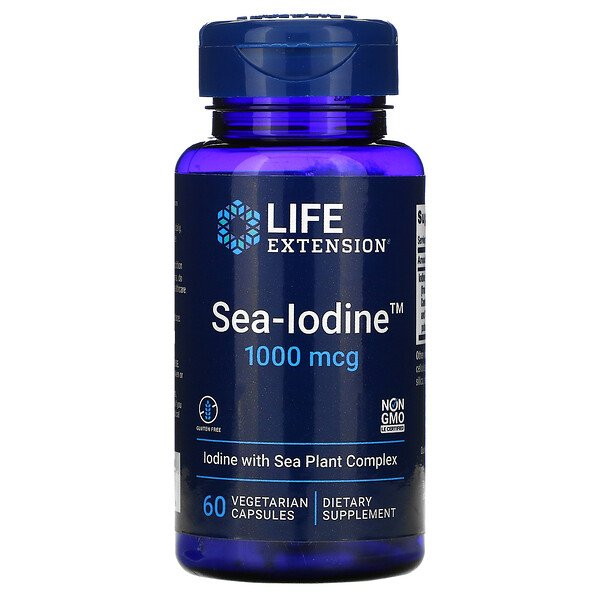 Life Extension, Sea-Iodine, 1000 mcg, 60 cápsulas vegetarianas