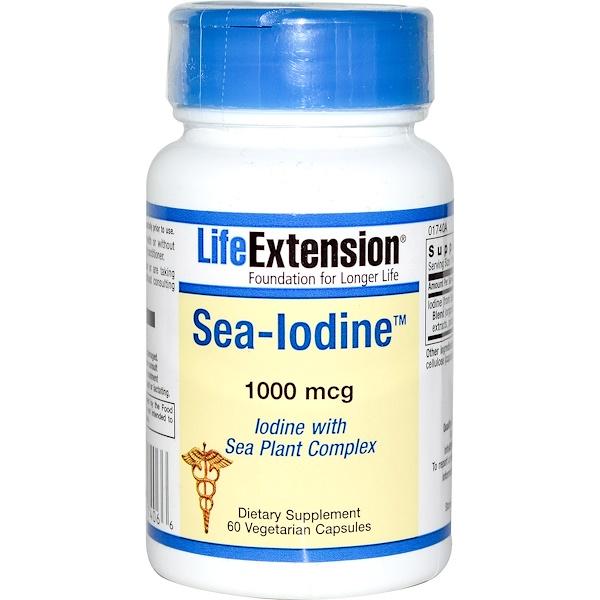 Life Extension, Sea-Iodine, 1000 mcg, 60 Veggie Caps