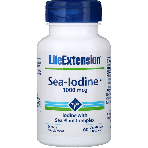 Life Extension, Sea-Iodine , 1000 مكغ، 60 كبسولة نباتية