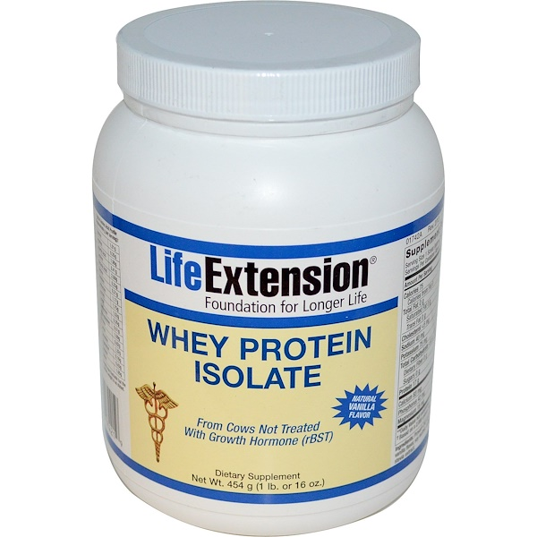 Life Extension, Whey Protein Isolate, Natural Vanilla Flavor, 16 oz (454 g) (Discontinued Item)
