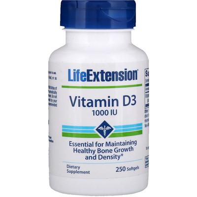 Купить Витамин D3, 1000 IU, 250 капсул