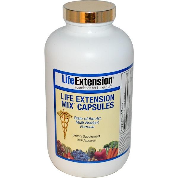 Life Extension, Mix Capsules, 490 Capsules  (Discontinued Item)