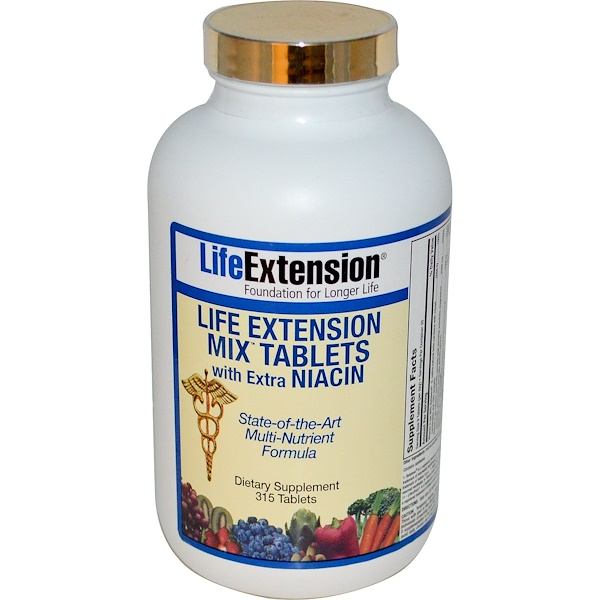 Life Extension, Mix Tablets With Extra Niacin, 315 Tablets (Discontinued Item)