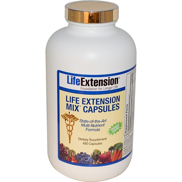 Life Extension, Mix Capsules, without Copper, 490 Capsules (Discontinued Item)