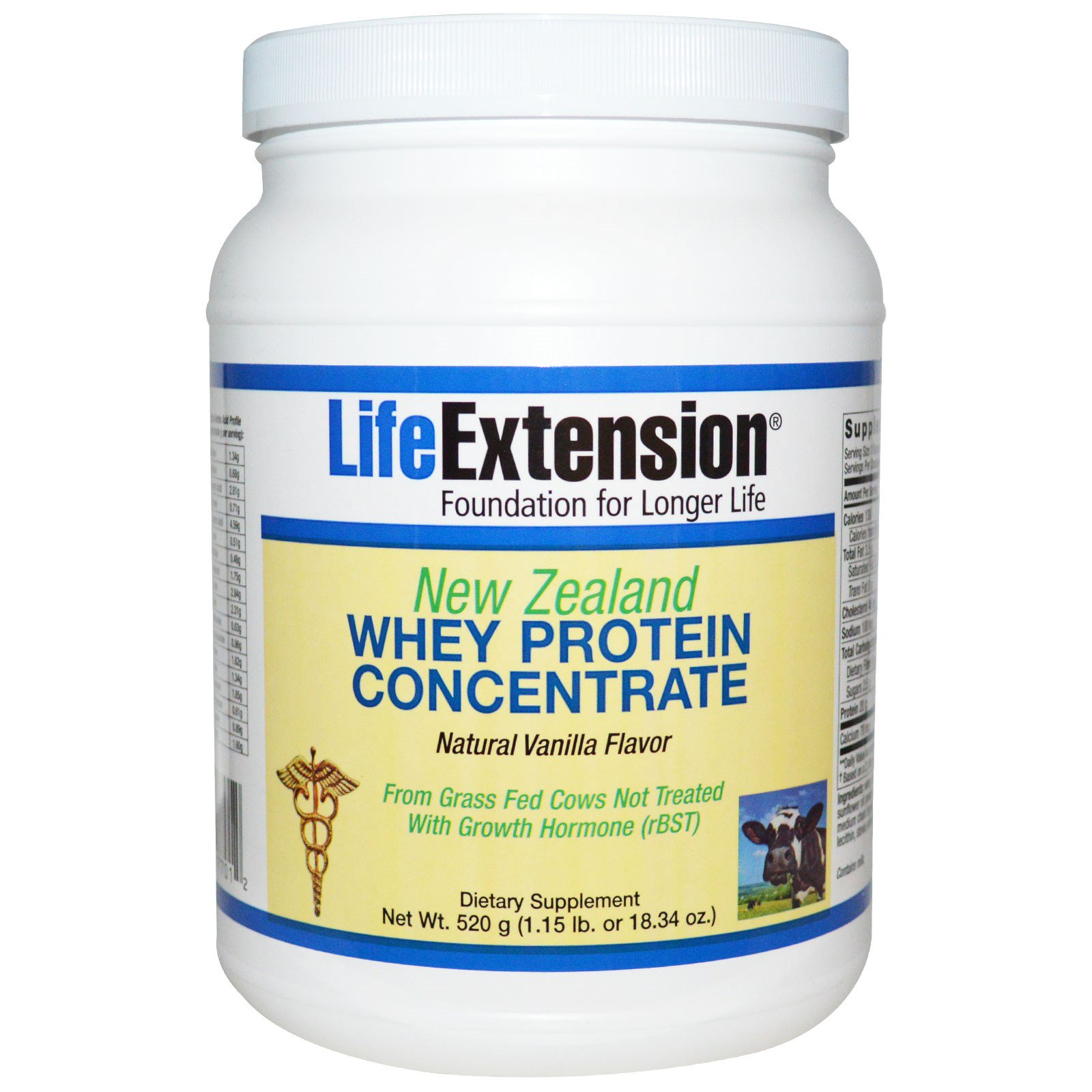Life Extension, New Zealand Whey Protein Concentrate, Natural
