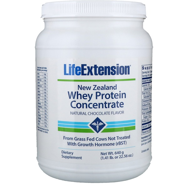 Life Extension, New Zealand Whey Protein Concentrate, Natural Chocolate Flavor, 23.28 oz (660 g) (Discontinued Item)