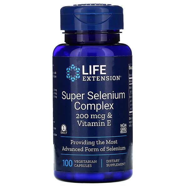 Суперкомплекс селена с витаминомE, 200 мкг, 100вегетарианских капсул