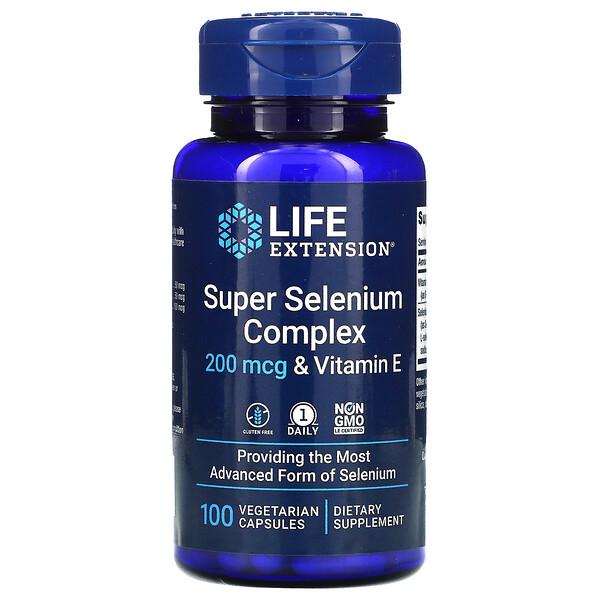 Super Selenium Complex & Vitamin E, 200 mcg, 100 Vegetarian Capsules