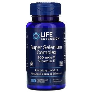 Лайф Экстэншн, Super Selenium Complex & Vitamin E, 200 mcg, 100 Vegetarian Capsules отзывы покупателей