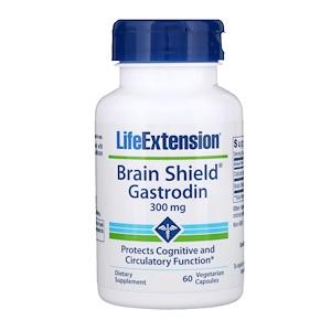 Лайф Экстэншн, Brain Shield Gastrodin, 300 mg, 60 Vegetarian Capsules отзывы покупателей