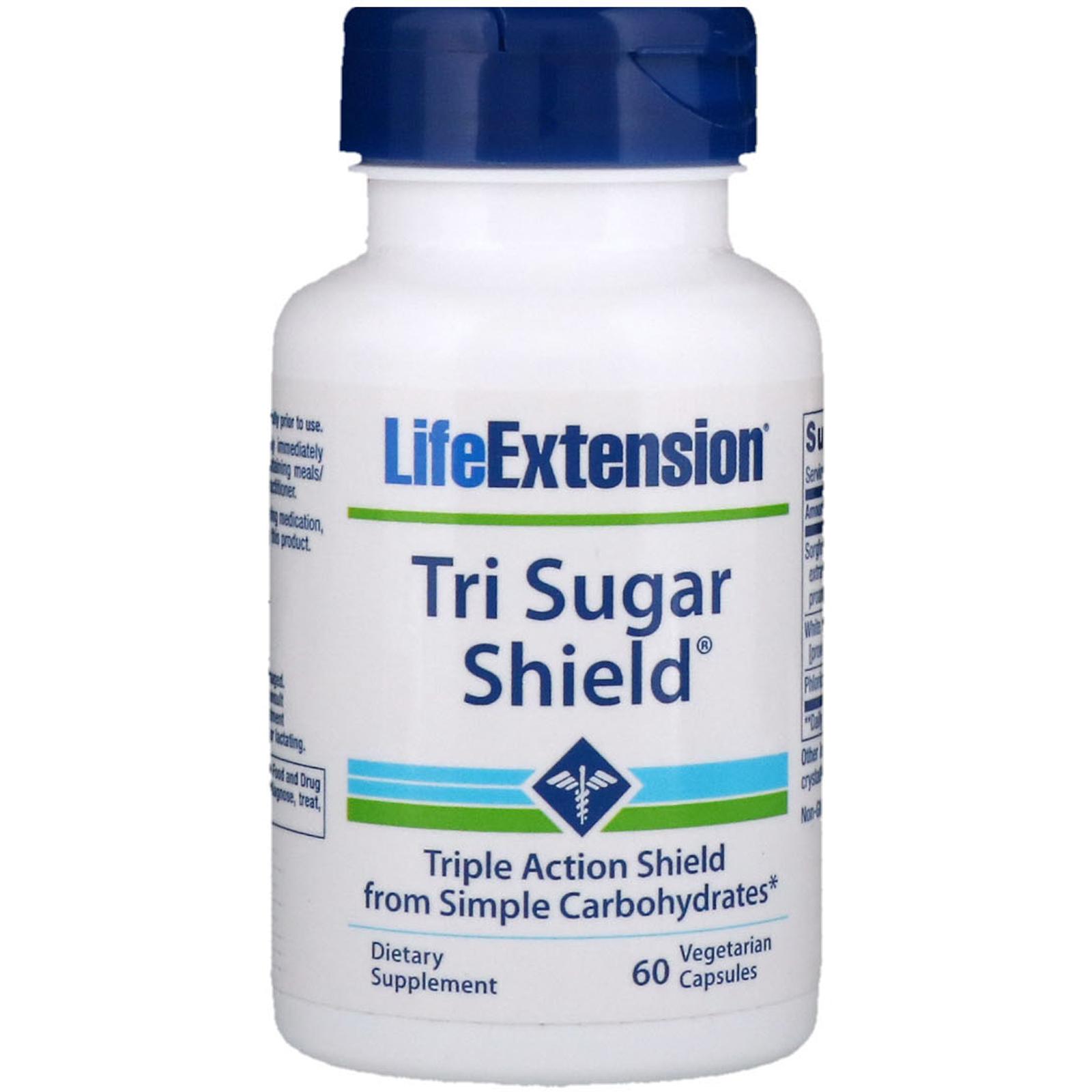 Life Extension, Tri Sugar Shield, 60 Vegetarian Capsules