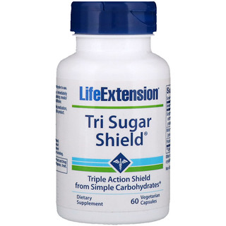 Life Extension, Tri Sugar Shield, 60 Veggie Caps