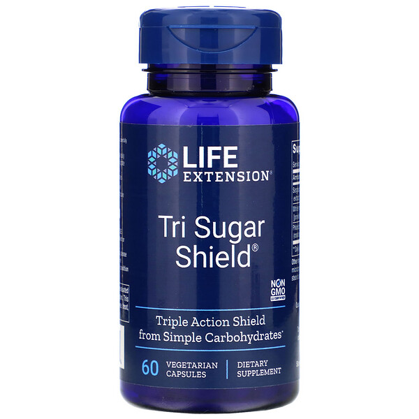 Life Extension, Tri Sugar Shield, 60 Vegetarian Capsules