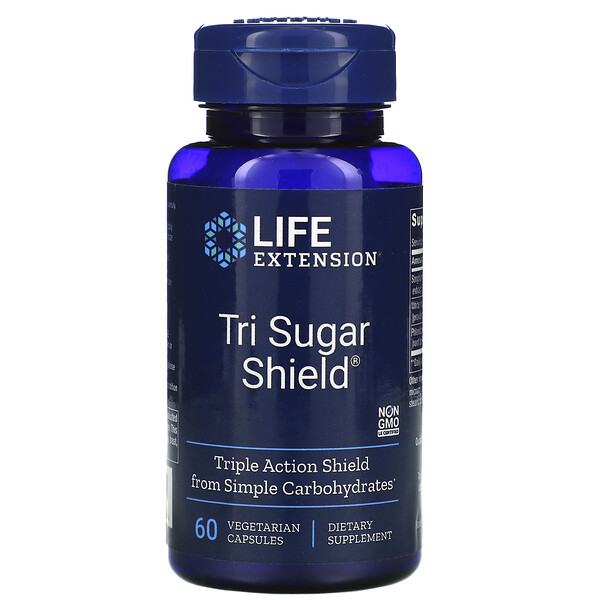 Tri Sugar Shield, 60 Vegetarian Capsules