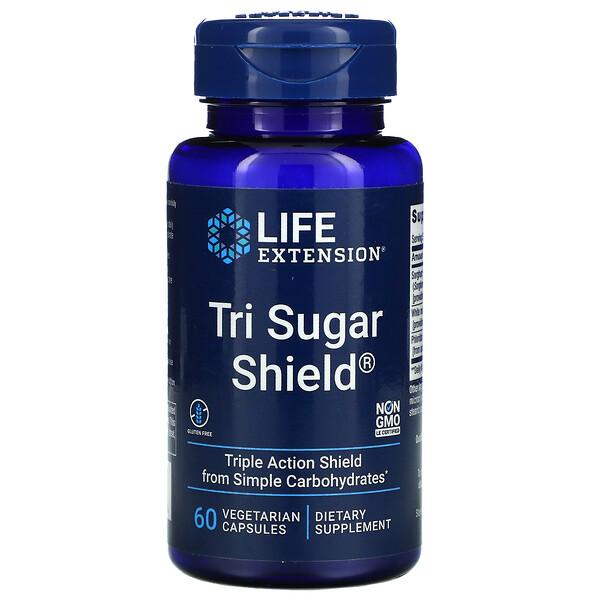 Life Extension, Tri Sugar Shield, 60 cápsulas vegetales
