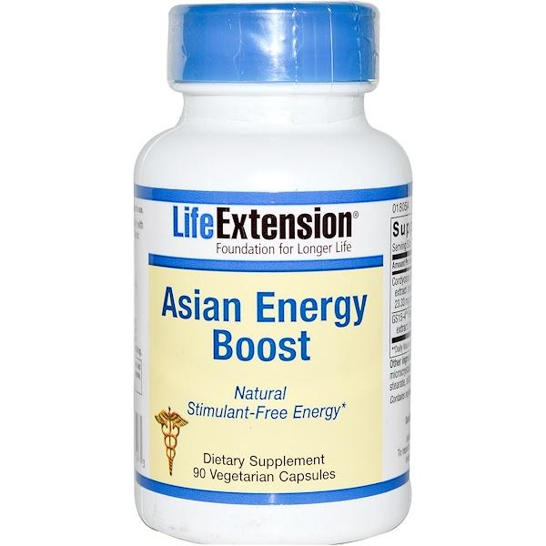 Life Extension, Asian Energy Boost, 90 Veggie Caps