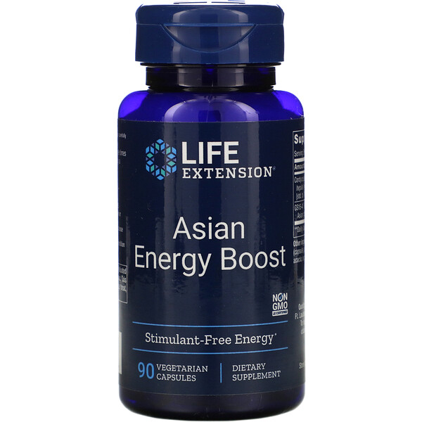 Life Extension, Asian Energy Boost, 90 cápsulas vegetales
