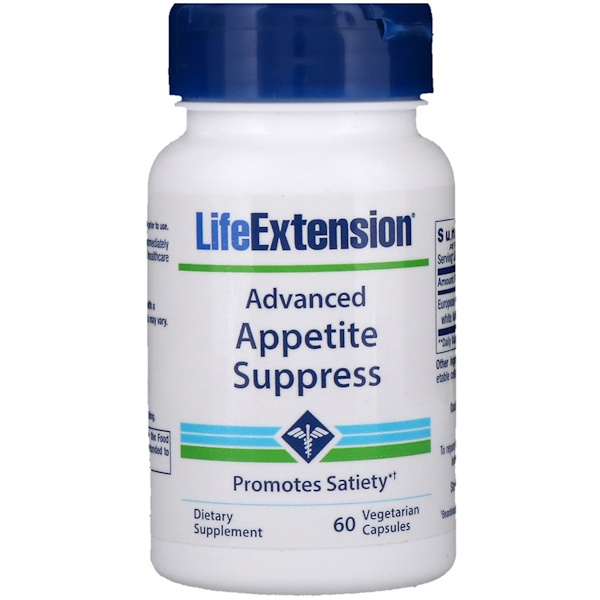Life Extension, Advanced Appetite Suppress, 60 Vegetarian Capsules