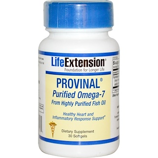 Life Extension, Provinal Purified Omega-7, 30 Softgels