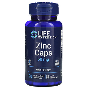Лайф Экстэншн, Zinc Caps, High Potency, 50 mg, 90 Vegetarian Capsules отзывы покупателей