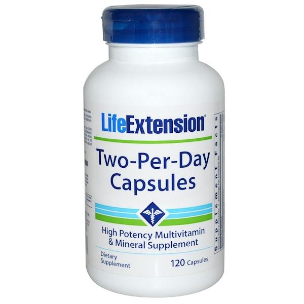 Life Extension, ツー・パー・デイカプセル、 120カプセル (Discontinued Item)