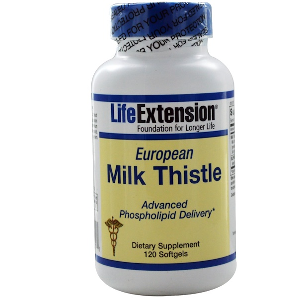Life Extension, European Milk Thistle, 120 Softgels (Discontinued Item)