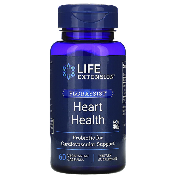 FLORASSIST Heart Health, 60 Vegetarian Capsules