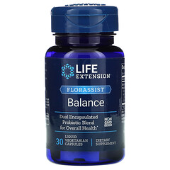 Life Extension, FLORASSIST 平衡營養,30 粒液體素食膠囊