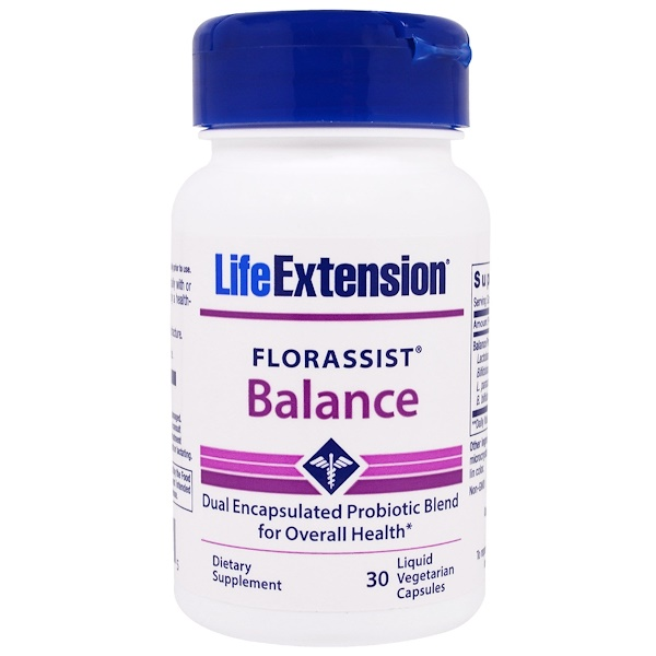 Life Extension, FlorAssist, Balance, 30 Liquid Veggie Caps