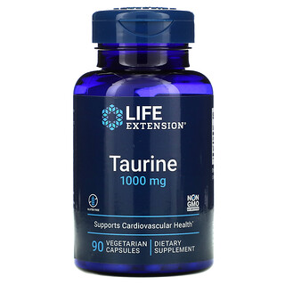 Life Extension, Taurine, 1,000 mg, 90 Vegetarian Capsules
