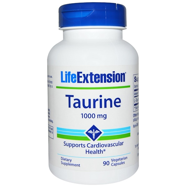 Life Extension, Taurine, 1000 mg, 90 Veggie Caps