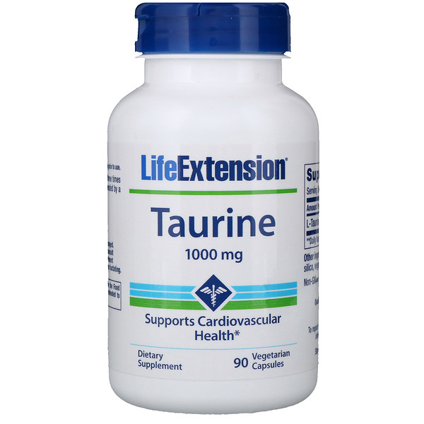 Life Extension, Taurine, 1000 mg, 90 Vegetarian Capsules