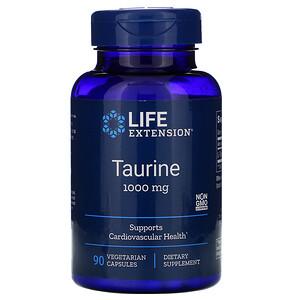 Лайф Экстэншн, Taurine, 1,000 mg, 90 Vegetarian Capsules отзывы