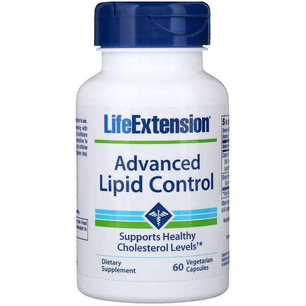 Life Extension, Advanced Lipid Control, 60 Vegetarian Capsules