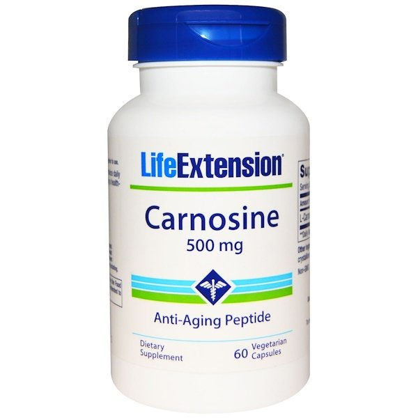 Life Extension, Carnosine, 500 mg, 60 Veggie Caps (Discontinued Item)