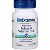 Life Extension, BioActive, Folate & Vitamin B12, 90 Vegetarian Capsules
