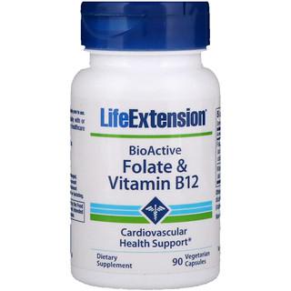 Life Extension, 生物活性,葉酸和維生素B12,90粒素食膠囊