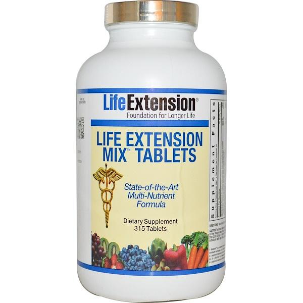 Life Extension, Mix Tablets, 315 таблеток (Discontinued Item)