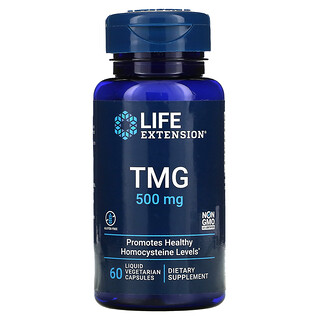 Life Extension, TMG, 500 mg, 60 Liquid Vegetarian Capsules