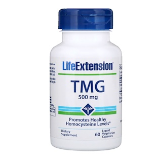 Life Extension, TMG, 500 mg, 60 Liquid Vegetarian Capsules
