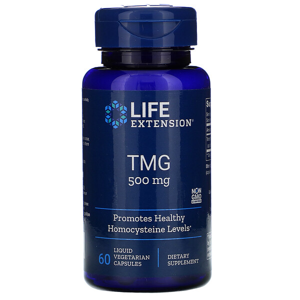 Life Extension, تي إم جي، 500 مليغرام، 60 كبسولة نباتية سائلة
