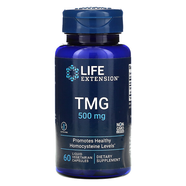 TMG, 500 mg, 60 Liquid Vegetarian Capsules
