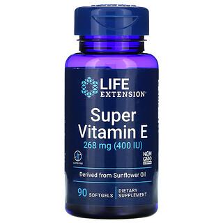 Life Extension, Super Vitamin E, 268 mg (400 IU), 90 Softgels