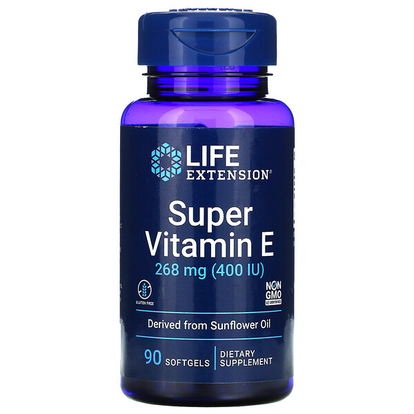 Super Vitamin E, 268 mg (400 IU), 90 Softgels