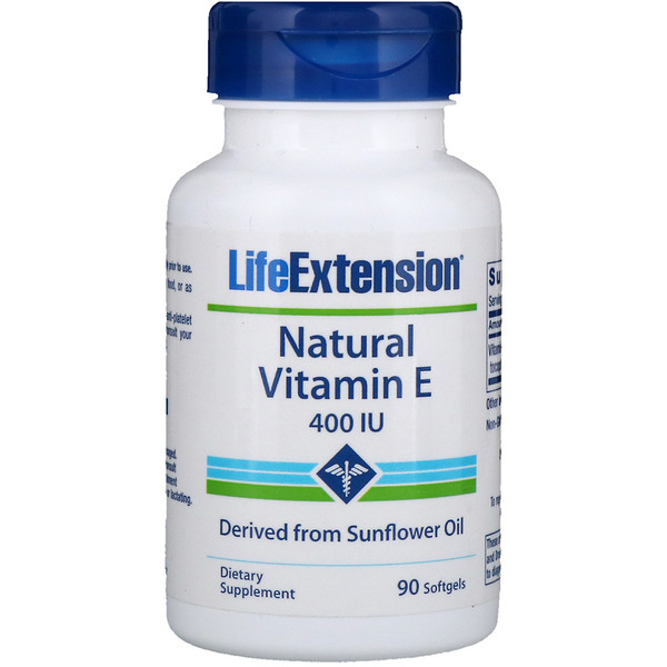 Life Extension, 天然維生素E,400 IU,90粒軟膠囊
