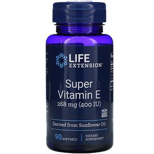 Лайф Экстэншн, Super Vitamin E, 400 IU, 90 Softgels отзывы